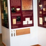 """Education Section with discovery drawer in """"Turning the Soil: The Land and People of Lebanon,"""" an exhibition at the Lebanon, CT  Historical Society"""