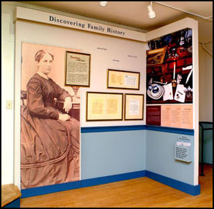 """Phelps Family History Section in """"Phelps Tavern: The Entertainment of Strangers,"""" an exhibition and interpretative plan at the Simsbury, CT Historical Society"""